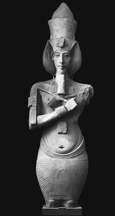 Akhenaton, from the Temple of Aton, Karnak, Egypt, Dynasty XVIII ca 1353-1335 bce