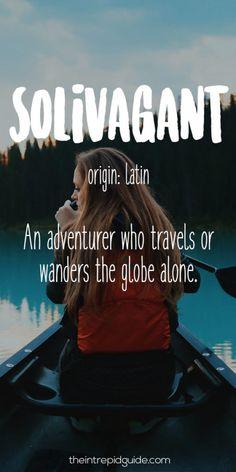 Travel Words Solivagant