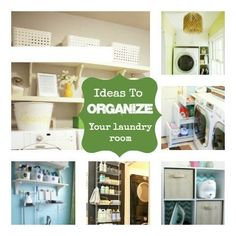 Stop Spinning: Ideas to Organize the Laundry Room @cindyhopper