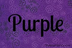 All things PURPLE!