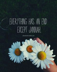 """""""But those who have faith and work righteousness, they are companions of the Garden, abiding in it eternally."""" [Surah al-Baqarah, 2: 82] Abu Hurairah [ra] reported that Allah's Messenger [saw] said: """"He who gets into Jannah (will be made to enjoy such and everlasting) bliss that he will neither become destitute nor will his clothes wear out nor will his youthfulness decline."""" [Muslim]"""