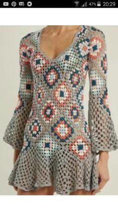 Fabulous Crochet a Little Black Crochet Dress Ideas. Georgeous Crochet a Little Black Crochet Dress Ideas. Moda Crochet, Pull Crochet, Crochet Lace, Crochet Wedding, Crochet Summer, Free Crochet, Lace Wedding, Wedding Dress, Black Crochet Dress