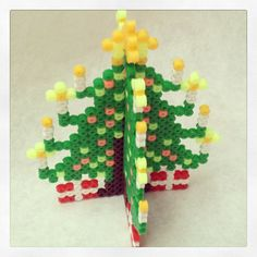 3D Christmas tree hama beads by kirsty18lester