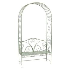 Melrose Savoy Metal Garden Bench with Arch