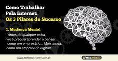 Como Trabalhar Pela Internet: Os 3 Pilares do Sucesso  1. Mudança Mental:  Antes de qualquer coisa, você precisa aprender a pensar como um empresário... mais ainda, como um empresário digital.
