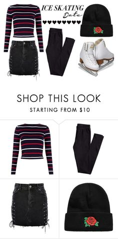 """""""Skate Date: Ice Skating Outfit"""" by good-vibes-xo ❤ liked on Polyvore featuring H&M, Topshop and iceskatingoutfit"""