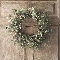 eucalyptus wreath - so lovely at Christmas