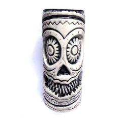 Buy a Sugar Skull Tiki Mug from Pepe's Mexican. We ship our Sugar Skull Tiki Mug Australia-wide. Free pick up in Brisbane. Tiki Totem, Tiki Tiki, Tropical Mugs, Tiki Glasses, Sugar Skull Artwork, Tiki Head, Ceramic Mask, Tiki Lounge, Tiki Mask