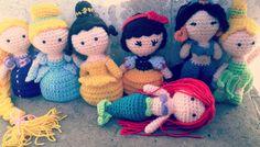 Princesas de disney amigurumi!, $80 en https://ofeliafeliz.com.ar