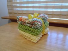 3 dish cloths  100  cotton by SecChnceTreasure on Etsy, $11.00