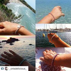 """#Repost @_crisdelicious_ with @repostapp. #bdgaccessories #mybdgaccessories #summer #sea #sardegna #jewelry #dandy #design #handmade #madeinitaly #italy #italianstyle #style #women #friends #picoftheday #bracelet #color #estate #fashion #gents #luxury #lifestyle #menstyle #picoftheday #silver  @bdgaccessories. Siamo """"amiche del mare"""" e ogni anno da oltre 30 anni ci rivediamo stessa spiaggia/stesso mare! Abbiamo deciso di regalarci un bracciale simbolico e """"Embrace"""" di BDG è perfetto per noi…"""