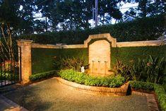 beautiful brick work in an entry courtyard
