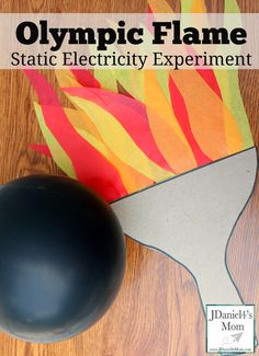 Static Electricity Olympic Flame Experiment - It is such fun to make the flames flicker! Summer Camp Themes, Summer Camp Activities, Preschool Science Activities, Science For Kids, Summer Science, Summer Games, Sports Activities, Indoor Activities, Summer Ideas
