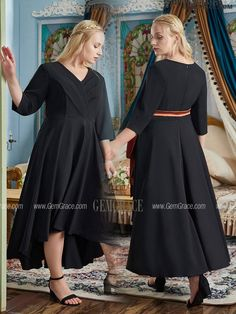 10% off now Elegant High Low Black Party Dress Plus Size with Sleeves Sash at GemGrace. Click to learn our pro custom-made service for wedding dress, formal dress. View Bridal Party Dresses for more ideas. Stable shipping world-wide. Bridal Party Dresses, Black Party Dresses, Wedding Dress, Mother Of The Bride Looks, Affordable Dresses, Dress Formal, Custom Dresses, Lovely Dresses, Special Occasion Dresses
