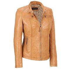 Women Leather Jacket Lambskin Motorcycle Biker Custom Made Real Leather WJ162