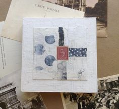 I have been working   on my new series..   Carte Postale     and I am putting the finishing touches                     on some of th...