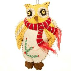 Fireworks Gallery - Holiday & Special Occasion - Ornaments - Holiday Ornaments - Owl with Scarf Ornament