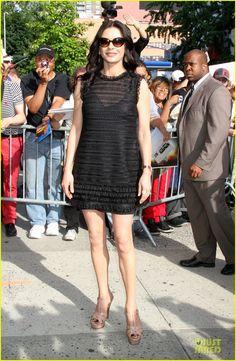 Catherine Zeta-Jones.  Dolce dress.  Dana Rebecca Designs earrings.