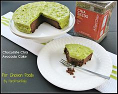 39 Healthy & Delicious Avocado Recipes: Chocolate Chia Cake with Avocado Frosting recipe picture by Pure Fresh Daily