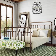 August Grove Walnut Grove Panel Bed Size: California King, Finish: Vintage White