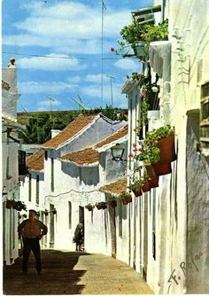 Calle Chorro, Estepona, 1965. Andalucia, Spain, City, Travel, Painting, Beautiful, Viajes, Sevilla Spain, Painting Art