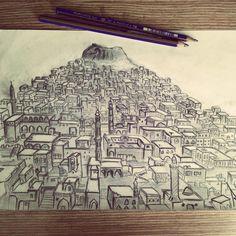 #mardinevleri  #karakalem  #art