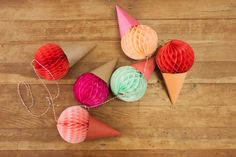 Jordan Ferney of the blog Oh Happy Day is full of great ideas! She's offered a few suggestions for ice cream-related crafts to kick a summer party up a notch – and perfect for kid's birthday party, too!