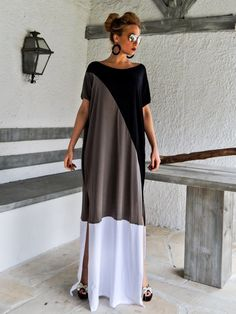 VENTE OFF Black - Robe Gris Maxi / Robe taille Plus / Robe longue / Robe Maxi / Kaftan / Robe taille plus / Caftan / Robe ample oversize , Maxis, Maxi Robes, Maxi Kaftan, Plus Size Maxi Dresses, Dresses Dresses, Flowing Dresses, Casual Dresses, Mode Style, Latest Fashion For Women