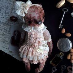 Купить Имбирь и Корица - кремовый, мишка, мишки тедди, ретро, мишка в платье, мишка в одежде