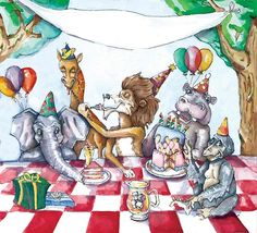 A Wild Party! - Illustration by Katie Roth Wools