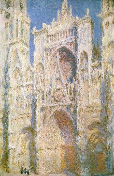 Claude Monet - Rouen Cathedral, West Facade, Sunlight - 1894 - Metropolitan Museum of Art Claude Monet, National Gallery Of Art, Art Gallery, Monet Paintings, Impressionist Paintings, Impressionism Art, Watercolor Paintings, Canvas Art, Canvas Prints
