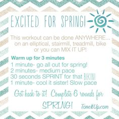 BIKINI SERIES WEEK 2 Fitness Schedule!