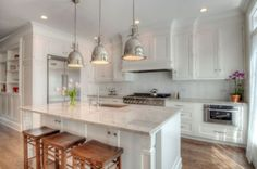 9 foot ceiling cabinets pictures again please - Kitchens Forum - GardenWeb:
