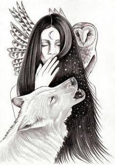 Ritual Mini Art Print by Andrea Hrnjak - Without Stand - x Artwork Lobo, Wolf Artwork, Art And Illustration, Wolf Spirit Animal, Wolf Tattoo Design, Black And White Drawing, Black White, Spiritual Animal, Native American Art