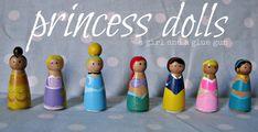princess peg dolls! - A girl and a glue gun