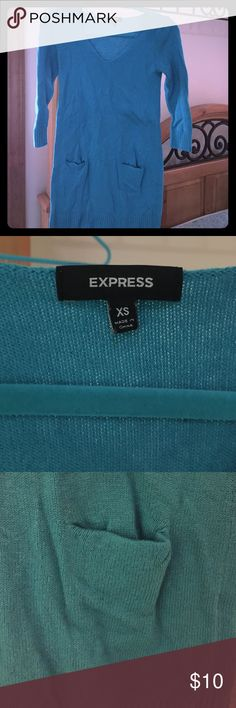 Express knit sweater size XS As shown in pictures. EUC AND ALL ITEMS FROM A SMOKE FREE HOME. Gently used if not specified NWT. Enjoy and shop away! Make me an offer  Bundle, Bundle, Bundle for increased savings and watch for flash sales! Express Sweaters V-Necks