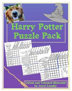 Harry Potter Puzzle Pack for Bright or Gifted and Talented