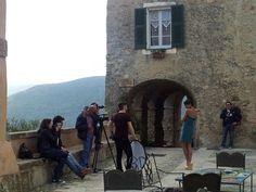 Il backstage del set fotografico di  Stile Artigiano di oggi a Verezzi #Liguria