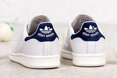 Adidas Originals Stan Smith Femme chaussures - couleur blanc de neige bleu soldes France