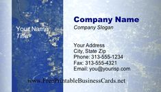This printable business card shows off a satellite view of a city, in blues and greens. Free to download and print