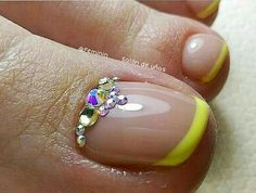 Uñas decoradas pies gelish Toe Designs, Toe Nails, Pedicure, Hair Beauty, Nail Art, Foto Instagram, Turquoise, Feet Care, Toe Nail Art