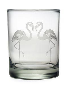 Flamingos Rocks Glasses (Set of 4)