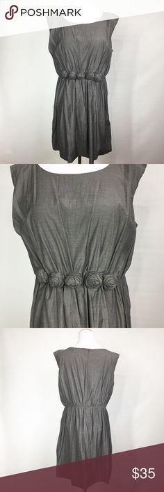 YA LOS ANGELES GREY ROSETTE DRESS NWT Ya Los Angeles Dresses Midi