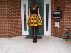 Embellished Top Kente Mini Dress by ZiZiandGrace on Etsy, $50.00