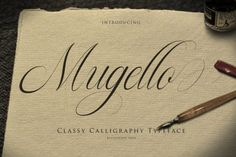 Ad: Mugello // Classy Calligraphy by Bluestudio on Hello, all Introducing our newest product Mugello. Mugello is a classy,modern and clean calligraphy font. Mugello is suitable for all your Handwritten Fonts, Calligraphy Fonts, Script Fonts, Typography Fonts, All Fonts, Modern Calligraphy, Beautiful Calligraphy, Calligraphy Alphabet, Beautiful Fonts