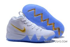 For Sale 2018 Wholesale Nike Kyrie 4 White Gold Shoes Nike Air Force, Nike Air Max, Basketball Shorts Girls, Basketball Shoes For Men, Basketball Games, Basketball Socks, Basketball Court, Sports Shoes, Sport Clothing