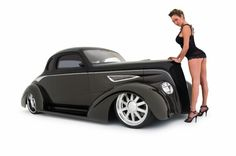 """37' Chevy Coupe called """"Black Opal"""
