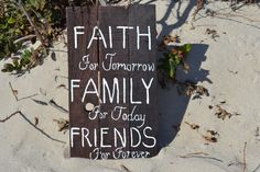 Reclaimed Wood, Handmade, Wall Art, One of a Kind Faith for Tomorrow Family for Today Friends for Forever by MomsGoneMad on Etsy