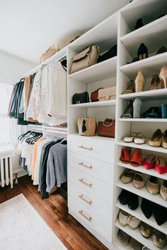 walk-in closet renovation old home master bedroom – See (Anna) Jane. walk-in closet renovation master bedroom old home Bedroom Closet Design, Master Bedroom Closet, Closet Designs, Diy Bedroom Decor, Bedroom Ideas, Bedroom Furniture, Bedroom Bed, Bedroom Designs, Master Closet Layout