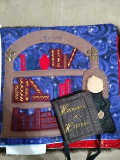 Harry Potter quiet book that I made. Hermione in the restricted section with Hogwarts a History.. Just a bit of light reading.